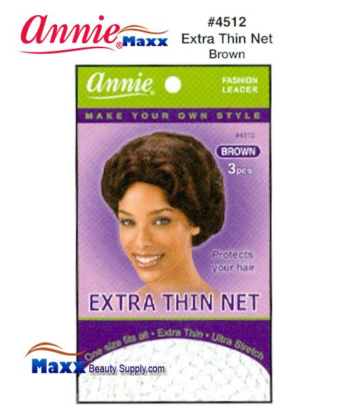 Annie Hair Net - Extra Thin Net - 4512(Brown)