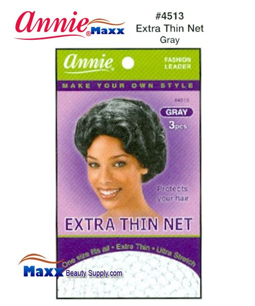 Annie Hair Net - Extra Thin Net - 4513(Gray)