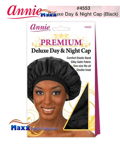 Annie Premium Deluxe Women #4553 Day & Night Cap - Black