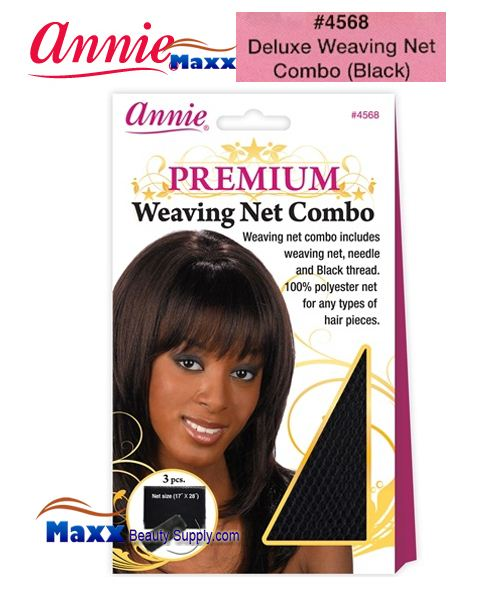 Annie Premium Deluxe Women #4568 Weaving Net Combo - Black