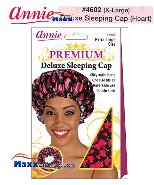 Annie Premium Deluxe Women #4602 Sleeping Cap X-Large - Heart