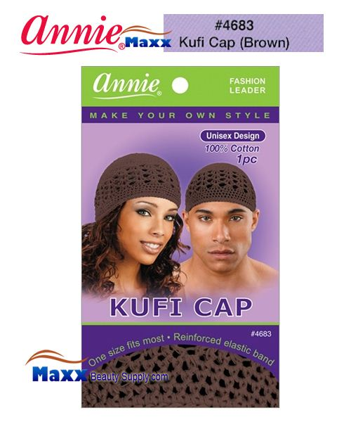 Annie Fashion Kufi Cap - 4683(Brown)