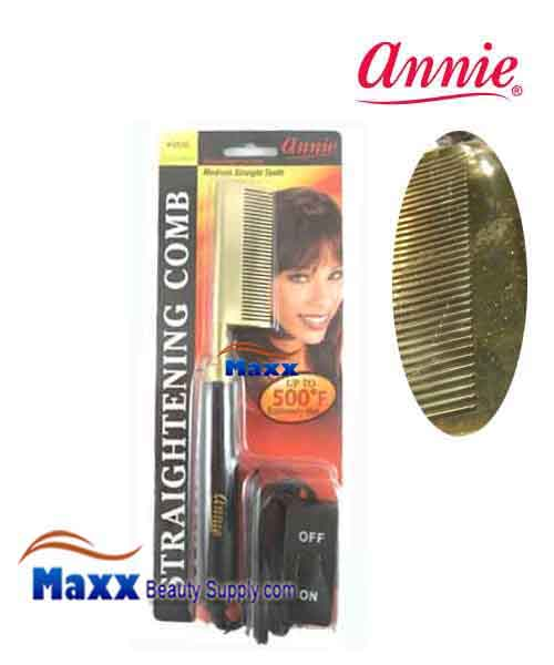 Annie #5530 Electrical Straightening Comb - Straight head, Medium Teeth