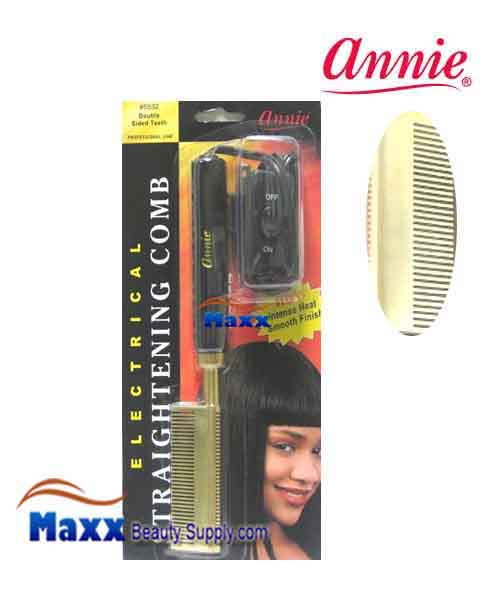 Annie #5532 Electrical Straightening Comb - Double Side, Medium Teeth