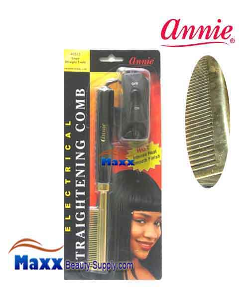 Annie #5533 Electrical Straightening Comb - Small Temple, Medium Teeth