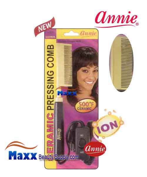 Annie #5535 Electrical Ceramic Pressing Comb - Medium Straight Teeth