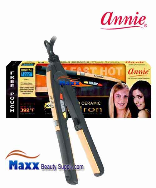 Annie #5603 Digital Ionic Gold Ceramic Flat Iron - 1""