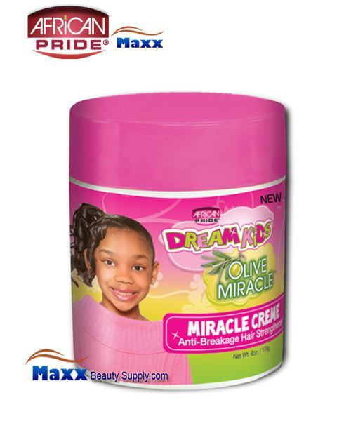 African Pride Dream Kids Olive Miracle Miracle Creme 6oz(Jar)