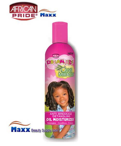 African Pride Dream Kids Olive Miracle Anti-Breakage Detangling Oil Moisturizer 7.625oz(Bottle)