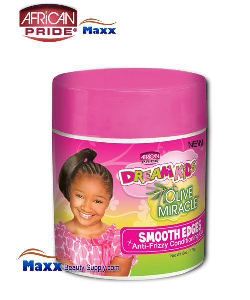 African Pride Dream Kids Olive Miracle Smooth Edges 6oz(Jar)
