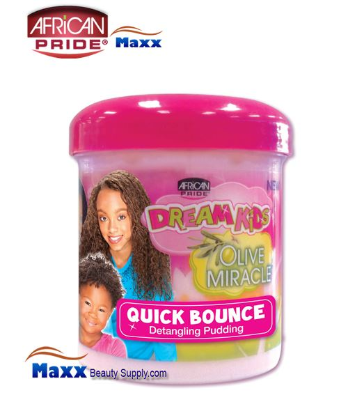 African Pride Dream Kids Olive Miracle Quick Bounce Detangling Pudding 15oz(Jar)