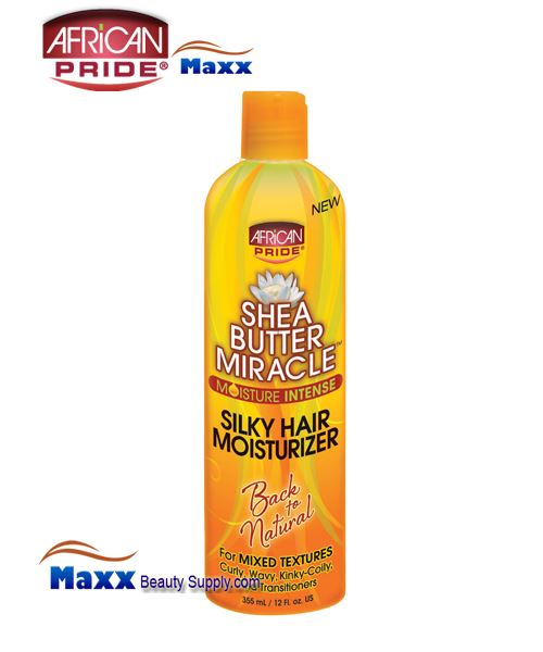African Pride Shea Butter Silky Hair Moisturizer Lotion 12oz - Bottle