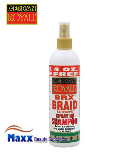 African Royale BRX Braid Spray on Shampoo 12 oz