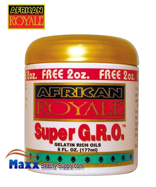 African Royale Super Gro - Maximum Strength 6 oz. (Pack of 6) Biore Combo Pack Deep Cleansing Pore Strips Face/Nose 14 Each (Pack of 3)