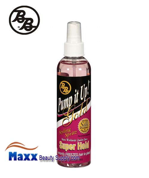 BB Pump It Up Gold Styling Spritz 8oz - Super Hold(55%)