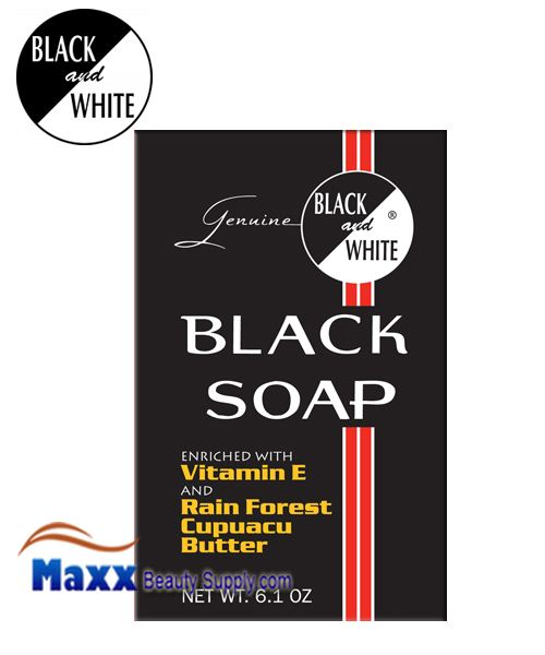 Black and White Black Soap 6.1oz