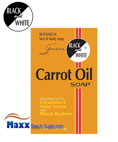 Black and White Carrot Oil Soap 6.1oz