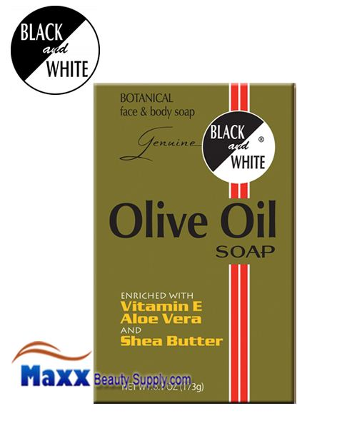 Black and White Olive Oil Soap 6.1oz