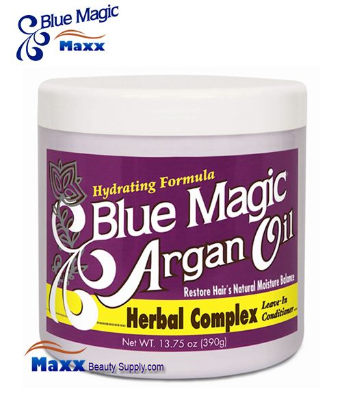 Blue Magic Argan Oil Herbal Complex Leave-In Conditioner 13.75oz - Jar