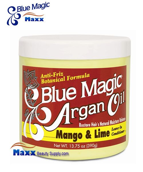 Blue Magic Argan Oil Mango & Lime Leave In Conditioner 13.75oz - Jar