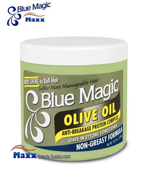Blue Magic Olive Oil Leave-In Styling Conditioner 13.75oz - Jar