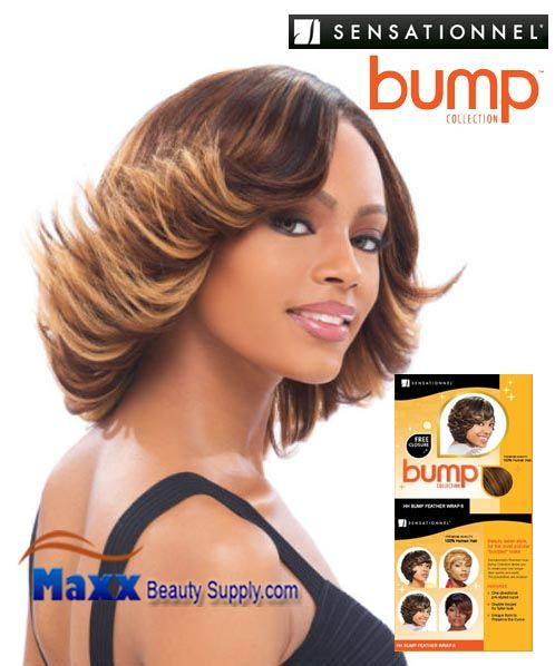 Sensationnel Bump Collection Human Hair Weave - Bump Feather Wrap 8""