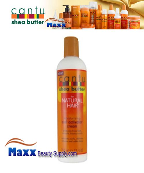 Cantu Shea Butter for Natural Hair Moisturizing Curl Activator Cream 12oz Bottle