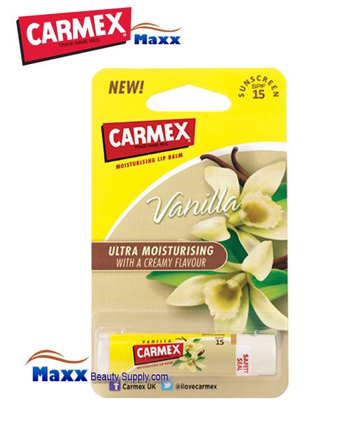 Carmex Stick Ultra Smooth Vanilla Lip Balm 0.15oz