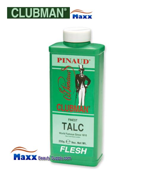 Clubman Finest Talc Powder 9oz - Flesh