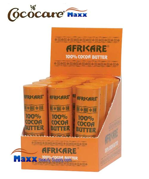 Cococare Africare 100% Cocoa Butter Stick 1oz -Display(12pc)