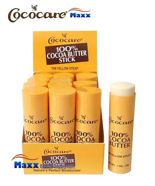Cococare 100% Cocoa Butter Sticks 1oz - Display(12pc)