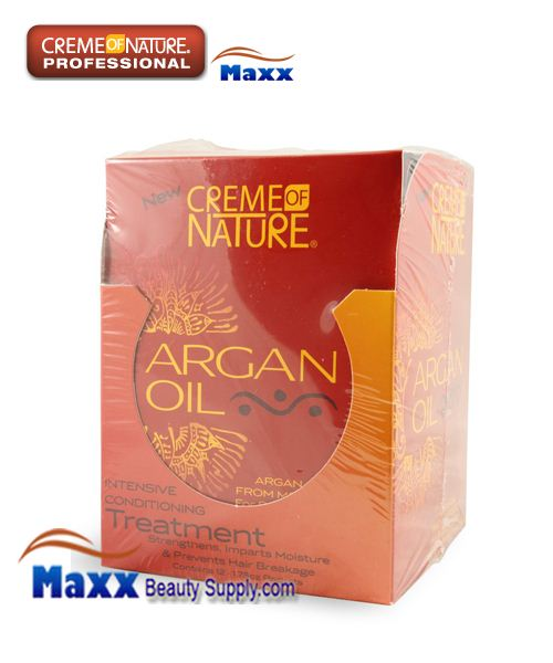 Creme Of Nature Argan Oil Intensive Conditioning Hair Treatment 1.75oz - Disp(12 Pack)