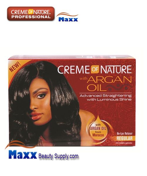 Creme Of Nature Argan Oil No Lye Relaxer Kit - Regular