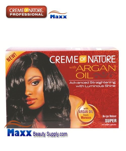 Creme Of Nature Argan Oil No Lye Relaxer Kit - Super