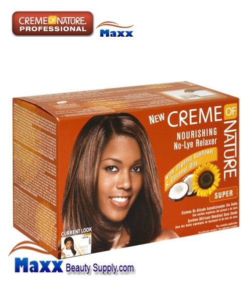 Creme Of Nature Nourishing No Lye Relaxer Kit - Super