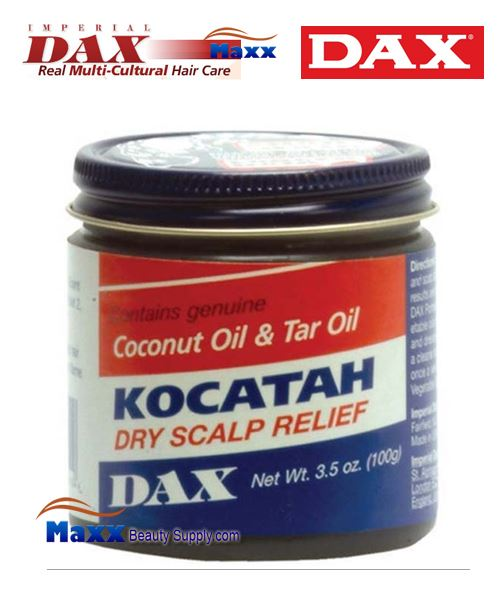 Dax Kocatah Dry Scalp Relief Coconut Oil & Tar Oil 3.5oz