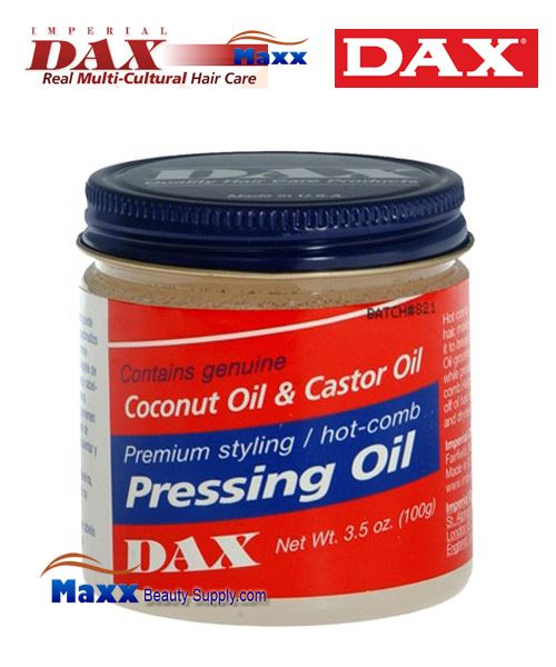 Dax Pressing Oil contains genuine Coconut Oil & Castor Oil 3.5oz