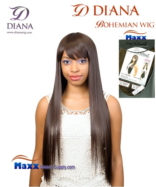 Diana Bohemian Pure Natural Synthetic Hair Wig - Kaka