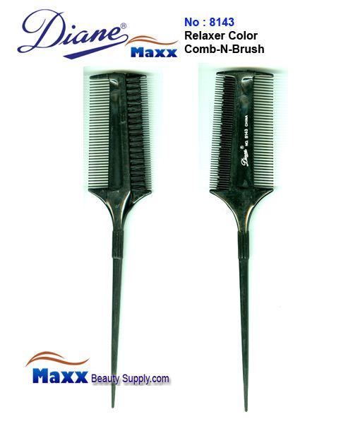 Diane D8143 Relaxer Color Comb-N-Brush - 2pc