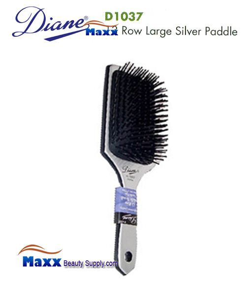 Diane Brush D1037 13 Row Large Silver Paddle Brush