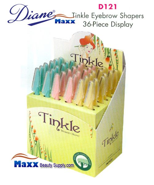 Diane D121 Tinkle Eye Brow Razor - Display(36 pcs)