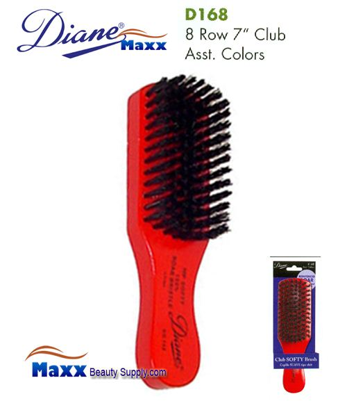 Diane Brush D168 Reinforced Boar 8 Row Club Brush Assort Color