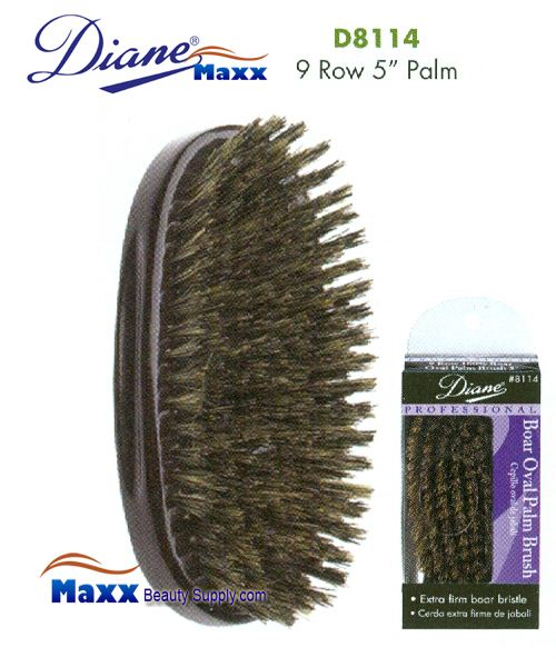 Diane Brush D8114 100% Boar 9 Row Palm Brush