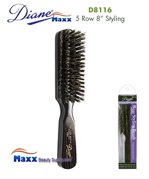 Diane Brush D8116 100% Boar 5 Row Extra Firm Brush