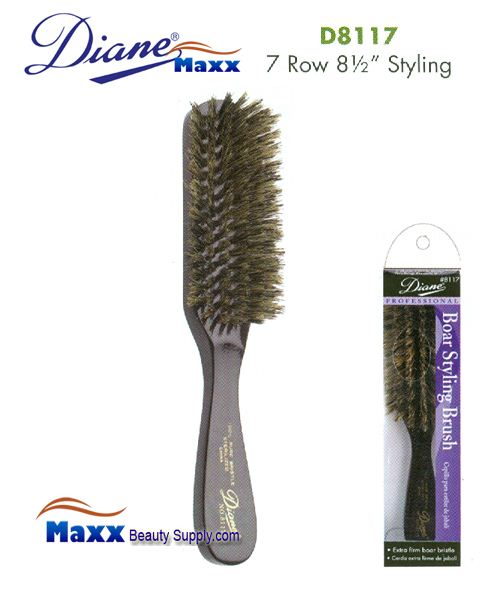 Diane Brush D8117 100% Boar 7 Row Extra Firm Brush