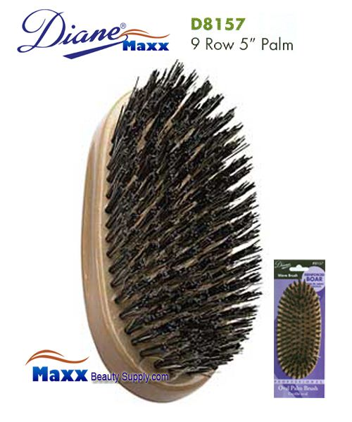 Diane Brush D8157 Reinforced Boar 9 Row Palm Brush 5""