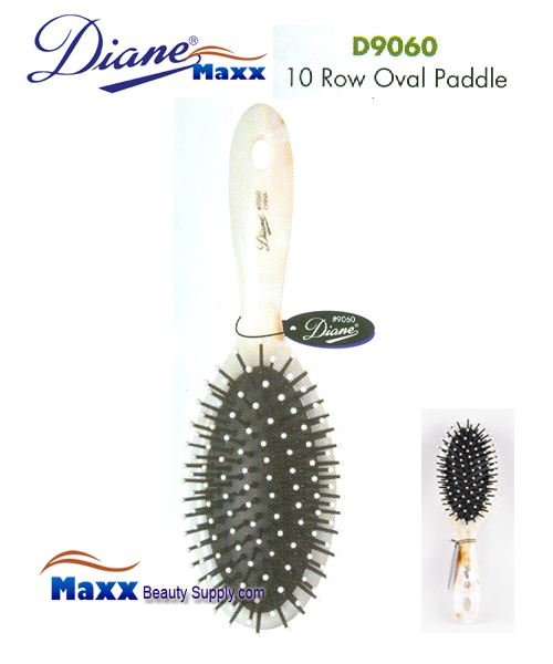 Diane Brush D9060 Shell Oval Cushion Paddle Brush