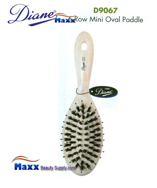 Diane Brush D9067 Shell Oval Mini Cushion Paddle Brush