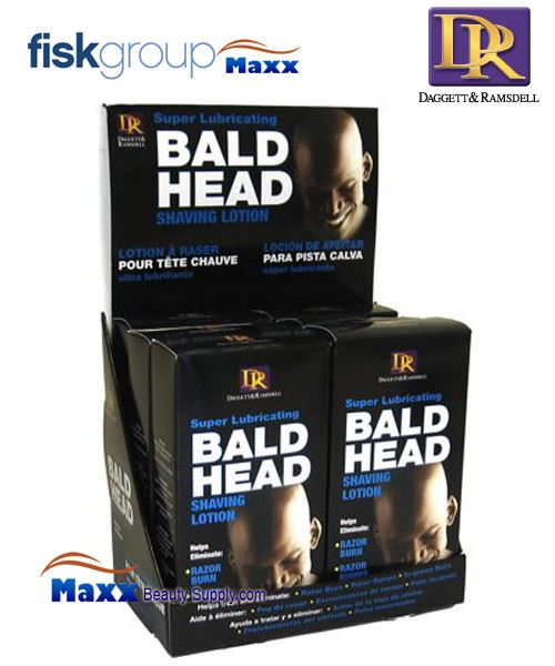 DR Daggett & Ramsdell Super Lubricating Bald Head Shaving Lotion Display - 6pc