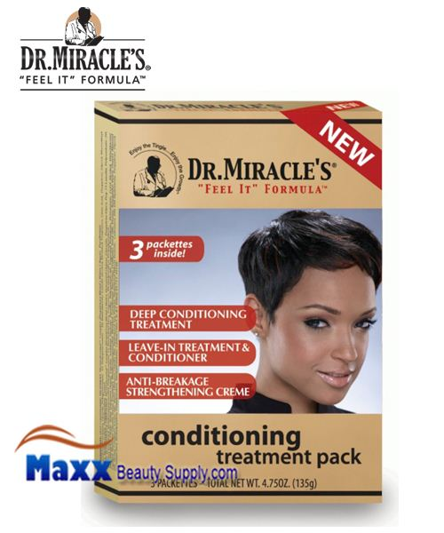 Dr Miracle's 3 Packets Conditioning Treatment Pack 1.75oz Each